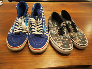 Vans BMX skate shoes: Freestyle Haro and Star Wars, mens 9