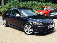 2009 Volvo C30 1.6D DRIVe R-Design DIESEL Black only 54,547 Miles FSH SUPERB!!!!