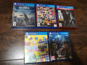 PS4 Games, English and Japanese