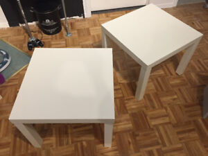 Tables d'appoint LACK blanches