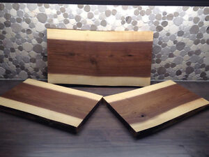 Brand new hand crafted walnut live edge cutting boards