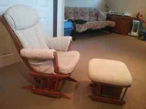 Rocking Chair and Gliding Foot Stool