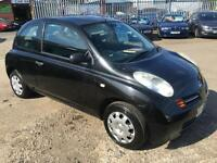 Nissan Micra 1.2 16v S 2005 BLACK 3 DOOR WITH APRIL 17 MOT