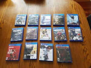 14 PS4 Games For Sale - Excellant Condition