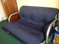 **Bargain basement price - has to go - navy sofa bed**
