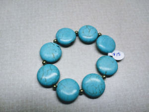 Turquoise bracelets, designed and made by seller