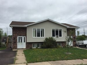 Renovated one side of duplex available right away