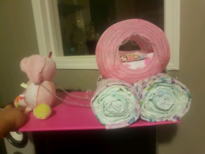 Cinderella carriage diaper cake