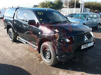 2013 Mitsubishi L200 Trojan DCB DI-D 4x4 2.5 DAMAGED REPAIRABLE SALVAGE