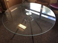 Stylish glass topped chrome legged small table