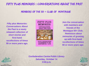"""Fifty plus Memories: Conversations About the Past""book event"