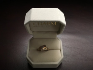 GOLD FAMILY RING AND DIAMOND  WEDDING RING