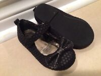 Size 5 black party shoes for girl