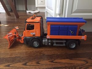 Bruder MACK Granite Snow Plow and Salter Truck