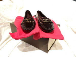 Louis Vuitton Rouge Fauviste (Wine) Oxford Loafer Flats - 38
