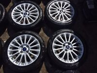 "16"" GENUINE FORD FIESTA ZETEC S WHEEL ALLOY WHEELS WITH TYRES 2016"