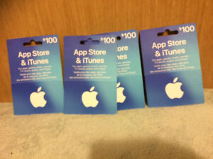 100 dlls iTunes gift cards in 85 each (I have 4)
