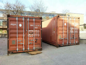 Steel Shipping Containers for extra storage.