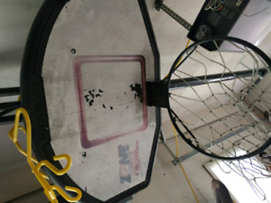 Huffy adjustable basketball net.