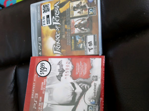 Two ps3 games prince of Persia trilogy and Batman arkham city