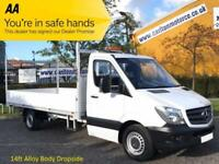 2014/ 14 Mercedes Sprinter 313CDI 130 Lwb Dropside / Pickup 14ft Alloy Body Rwd