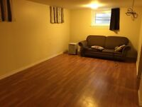 Basement apartment available in north end
