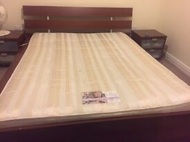 IKEA European Bed, Side table and Mattress