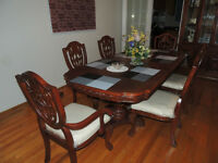 Impressive dining table with chairs