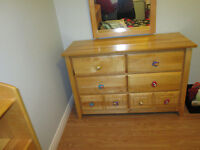 Pine Dresser / headboard & bed Frame, Girls