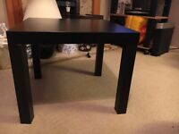 Brown/black ikea lack coffee table