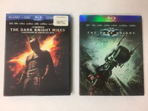 Dark Knight Rises & The Dark Knight Blu Ray DVD movie