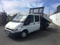 FORD TRANSIT 2.4 350L 1D 140 BHP DIESEL 3 WAY TIPPER TRUCK FINANCE PARET EXCHANG