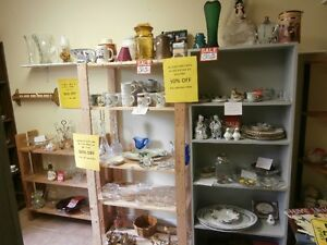 Antique Glass & China at 50% OFF at the Flea Market Sun 9 to 4pm