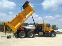 Dump truck and skidsteer for hire