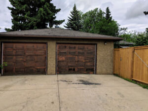 Half of Large Heated Double Garage for Rent, close to main roads