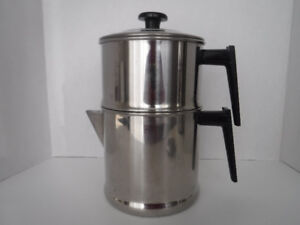 VINTAGE COFFEE MAKER DRIP O LATOR STAINLESS STEEL STOVE TOP