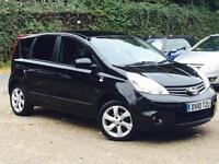 2010 Nissan Note 1.4 16v N-TEC Black only 53,160 Miles FSH TOP SPEC SUPERB!!!!!!