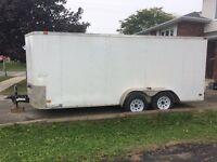 2011 Cove 7'x16' V nose, enclosed trailer, ramp rear doors!