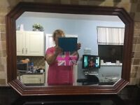 Octagonal mirror in very good condition.