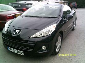 Peugeot 207 1.6 16V 120 SPORT COUPE CABRIOLET (black) 2009