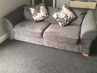 Sofa suite for sale 2+3 seater grey only 1 year old £250 ono