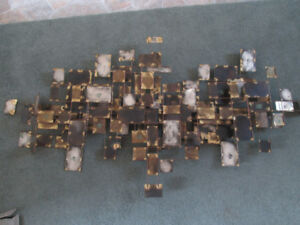 1970's abstract metal wall sculpture