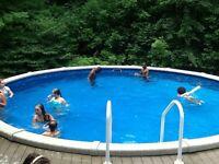 24' round salt water pool