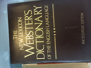 The new lexicon Webster a dictionary of the English language