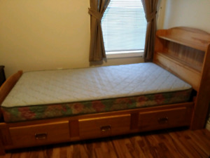 Maple solid wood captains bed