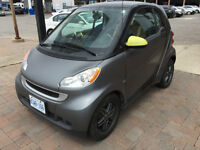2010 Smart Fortwo Matte Grey and Black Coupe (2 door)