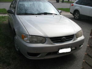 2001 COROLLA CE - IN GOOD WORKING CONDITION - FOR SALE.