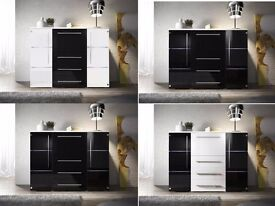 Chest of drawers Vito / Free LED !!! / Sideboard / High Gloss / Commode