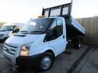 FORD TRANSIT TIPPER VAN T350 2.2 TDCI 2012 LIGHTWEIGHT ALLOY BODY EU5 VGC
