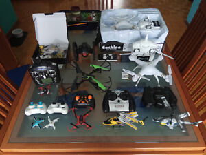 Huge Lot of RC Toys Jouets Teleguide Drone Quadcopters etc